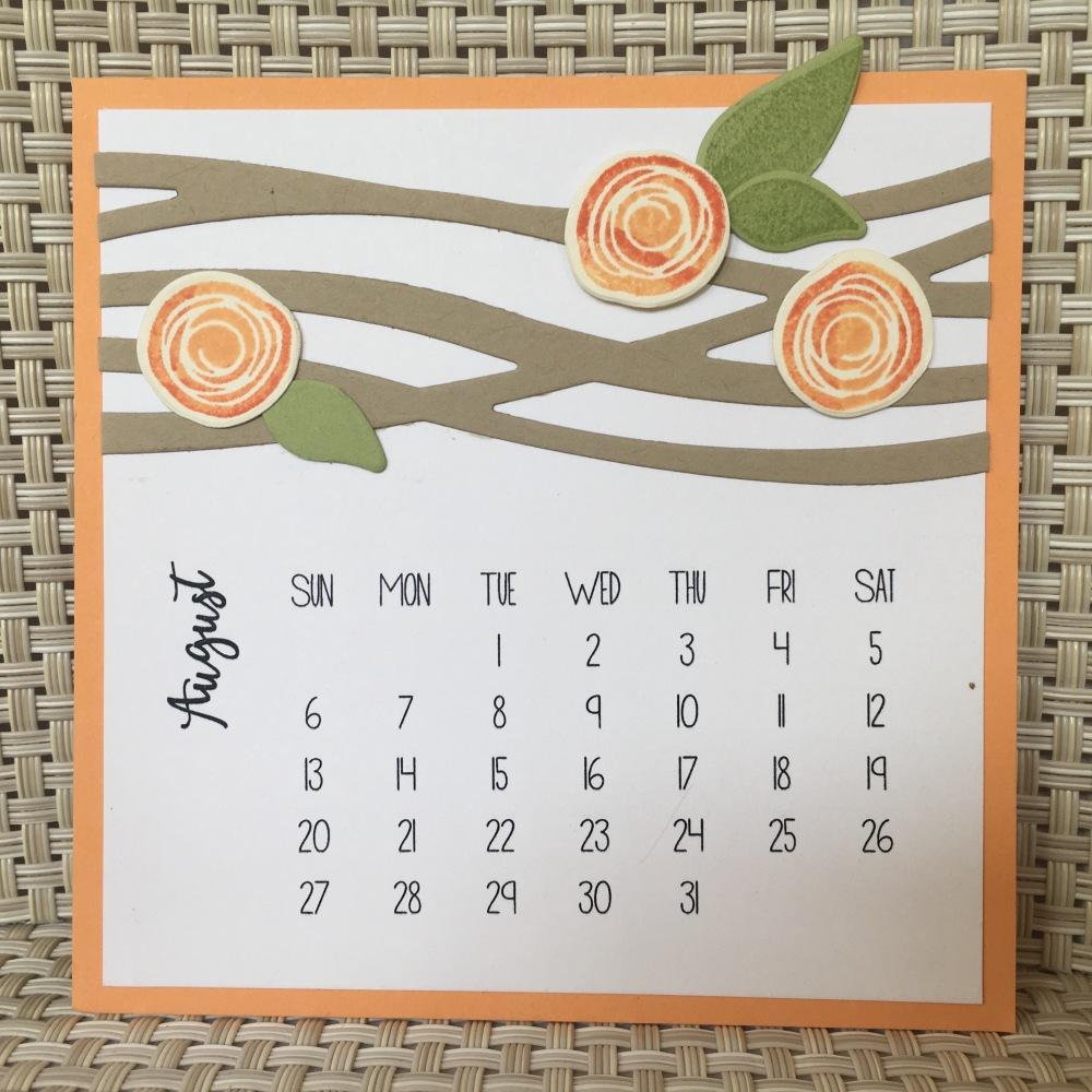 Maui Stamper DIY Easel Calendar Swirly Bird