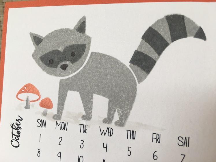 Maui Stamper DIY Easel Calendar Foxy Friends