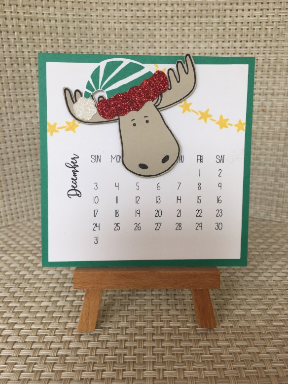 Maui Stamper DIY Easel Calendar Jolly Friends