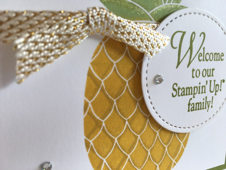 Maui Stamper Pineapple Welcome to our Stampin' Up! Family