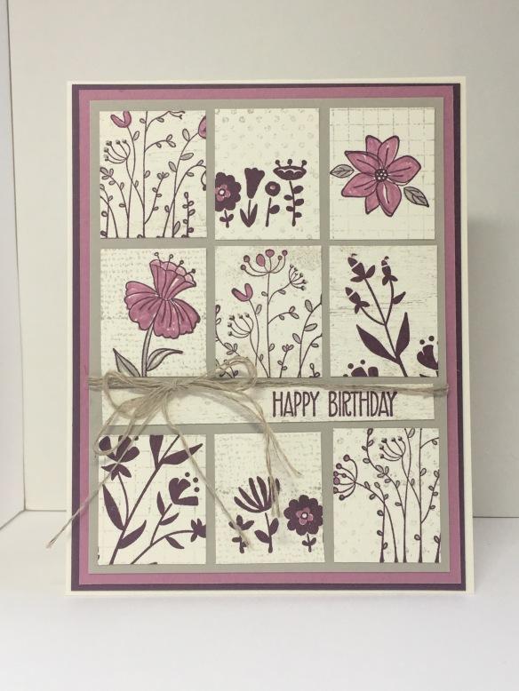Maui Stamper Flirty Flowers Tile Card