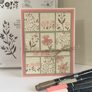 Maui Stamper Flirty Flowers Tile Card