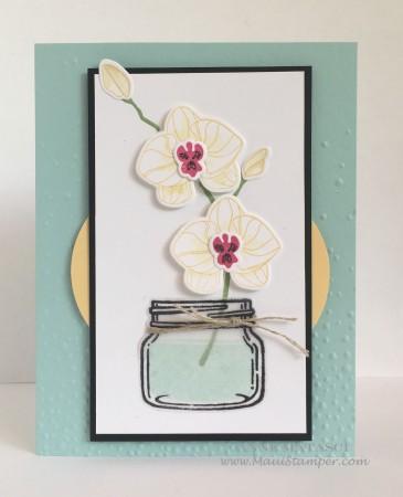 Maui Stamper Orchids in the Jar Stampin' Up!
