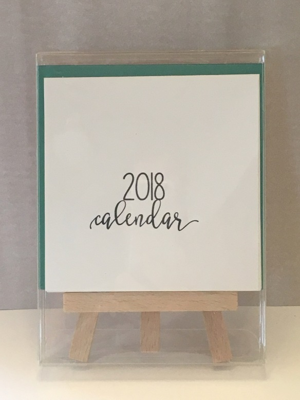 Maui Stamper Stampin' Up! 2018 DIY Easel Calendar Kit