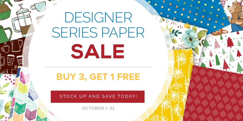 Maui Stamper Stampin' Up! October 2017 DSP Buy 3 Get One Free