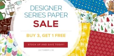 Maui Stamper Stampin' Up! October 2017 DSP Buy 3 Get One Free