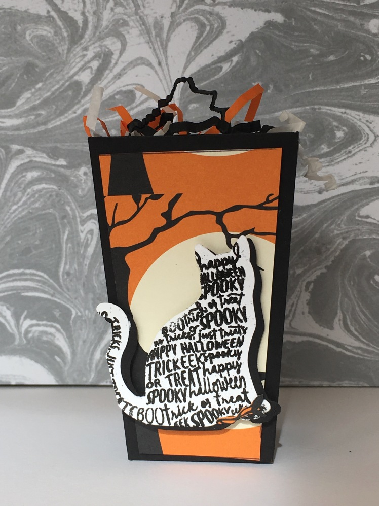 Maui Stamper Trick or Treat Popcorn Box
