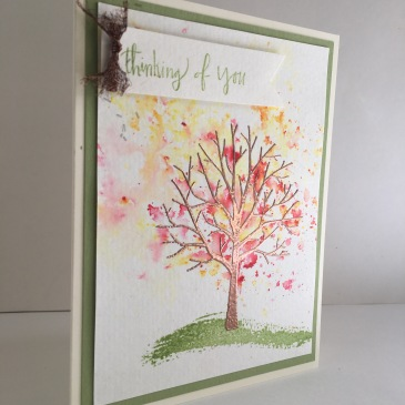 Maui Stamper Stampin' Up! Sheltering Tree Brusho