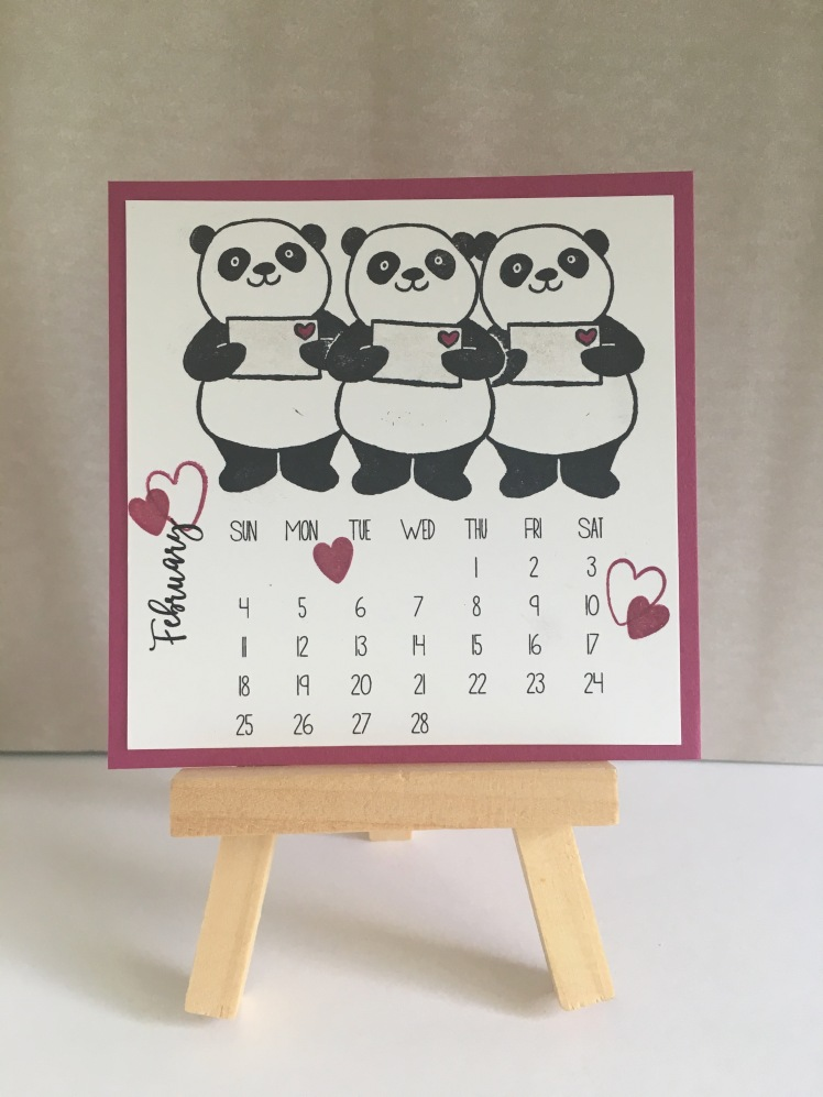 Maui Stamper Stampin' Up! Party Panda DIY Easel Calendar