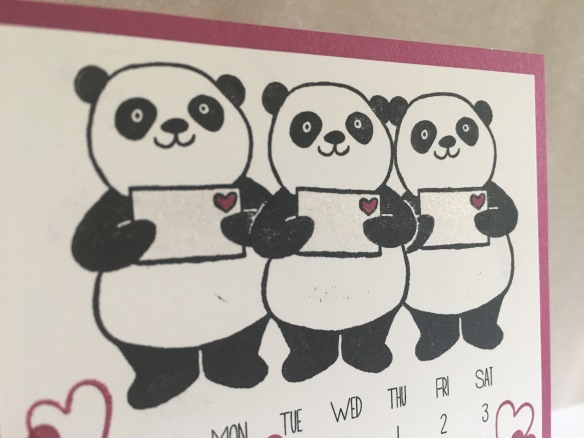 Maui Stamper Stampin' Up! Party Pandas DIY Easel Calendar