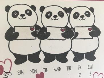 Maui Stamper Stampin' Up! Party Pandas DIY Easel Calendar