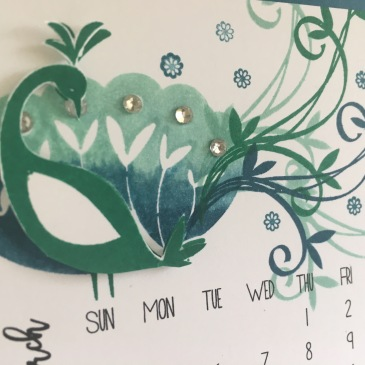 Maui Stamper Stampin' Up! DIY Easel Calendar Beautiful Peacock SAB 2018