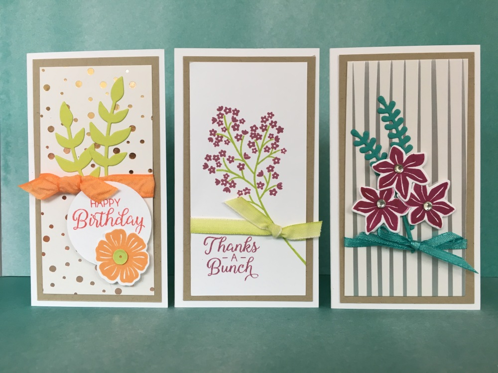 Maui Stamper Stampin' Up! Springtime Foil DSP with Narrow Note Cards
