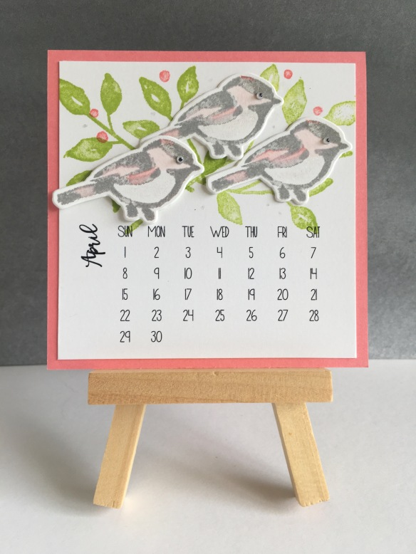 Maui Stamper Stampin' Up! 2018 DIY Easel calendar April 2018
