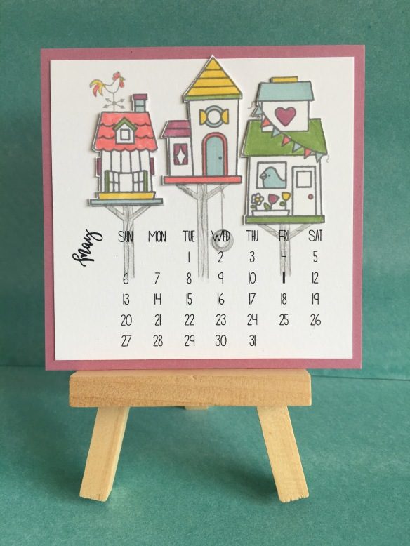 Maui Stamper Stampin' Up! DIY Easel Calendar May 2018 Flying Home