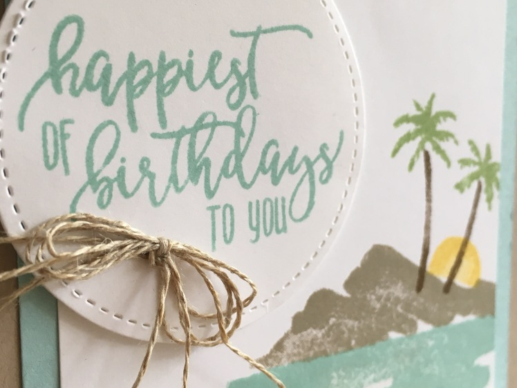Maui Stamper Stampin' Up! Waterfront Picture Perfect Birthday