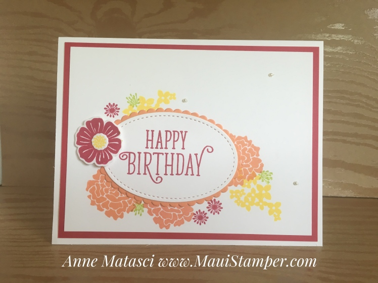 Maui Stamper Stampin' Up! Happy Birthday Gorgeous Beautiful Bouquet