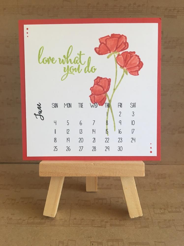 Maui Stamper Stampin' Up! Love What You Do DIY Calendar June 2018