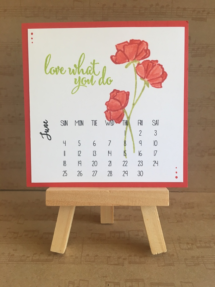 Maui Stamper Stampin' Up! Love What You Do DIY Calendar June 2018
