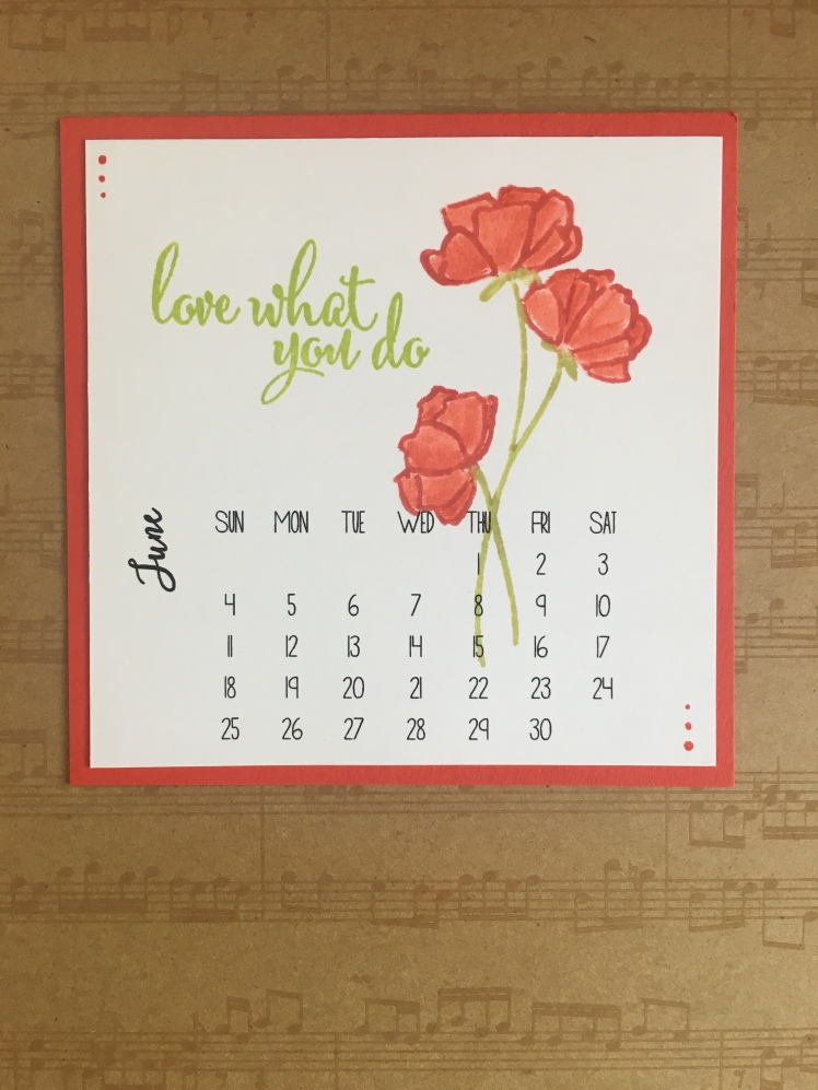 Maui Stamper Stampin' Up! Share What You Love DIY Calendar June 2018