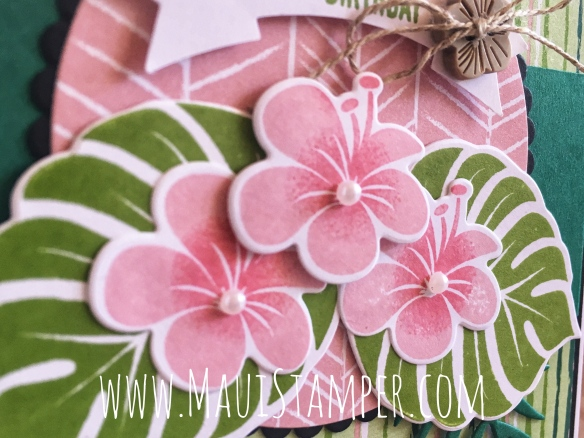 Maui Stamper Stampin' Up! Tropical Chic Tropical Escape DSP