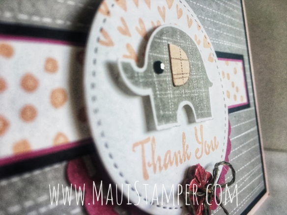 Maui Stamper Stampin' Up! Little Gray Elephant #CI38