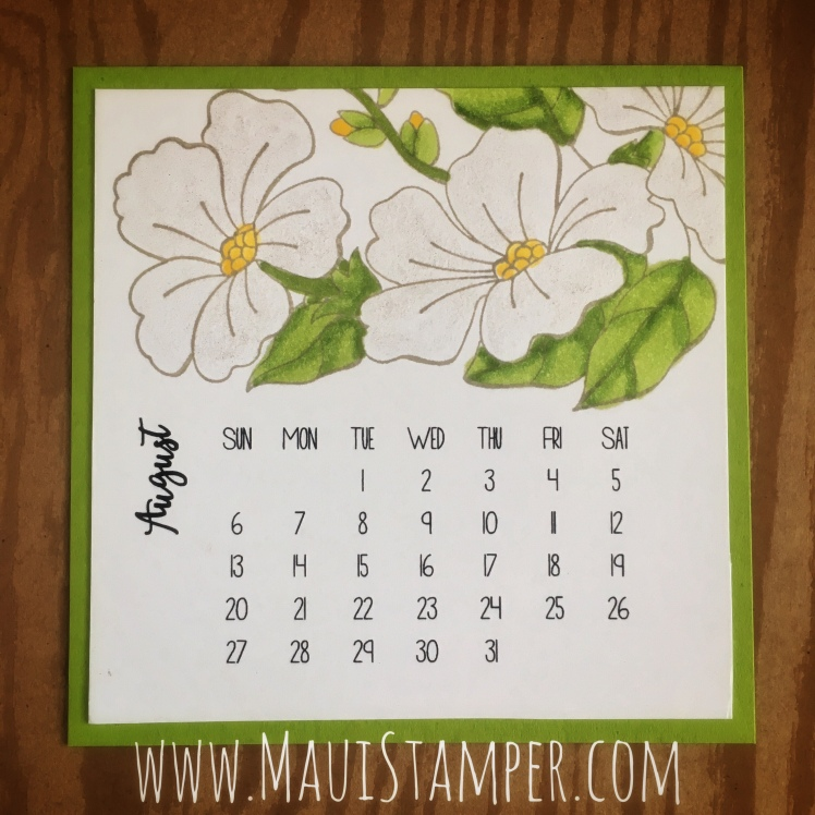 Maui Stamper Stampin' Up! Blended Seasons DIY Easel Calendar