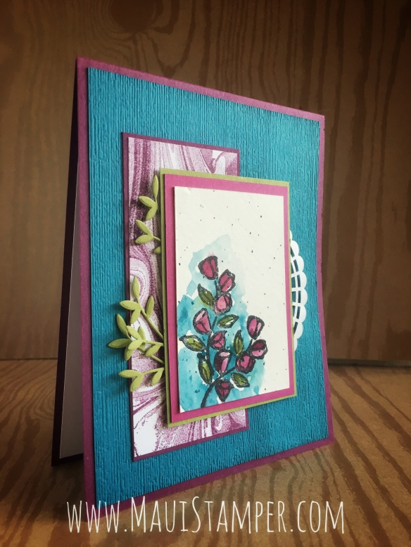 Maui Stamper Stampin' Up! Petal Palette with Brusho