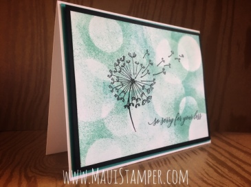 Maui Stamper Stampin' Up! Dandelion Wishes Bokeh Technique