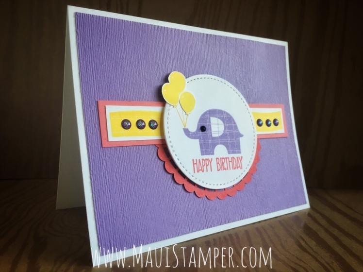 Maui Stamper Stampin' Up! Little Elephant Highland Heather