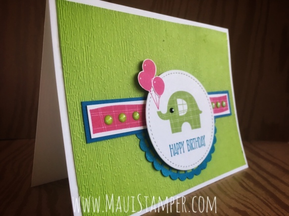 Maui Stamper Stampin' Up! Little Elephant Granny Apple Green