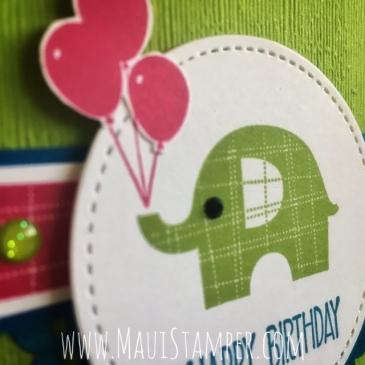 Maui Stamper Stampin' Up! Little Elephant Granny Apple Green