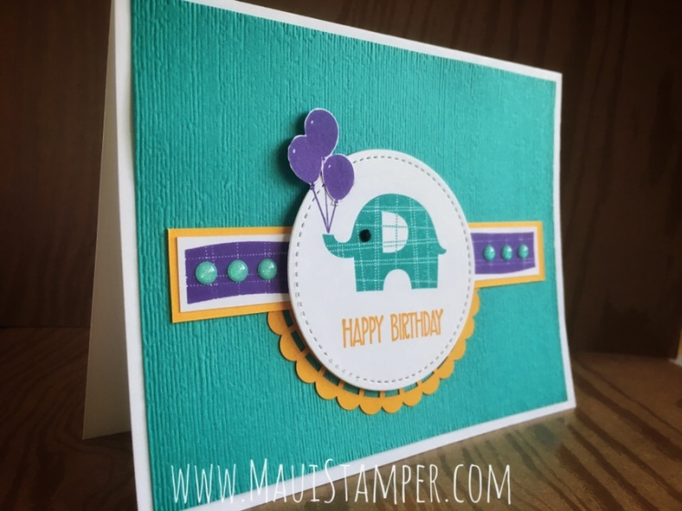 Maui Stamper Stampin' Up! Little Elephant Bermuda Bay