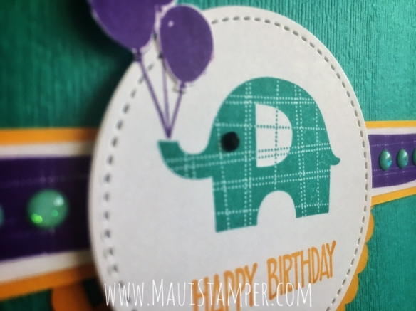 Maui Stamper Stampin' Up! Little Elephant Bermuda Bay