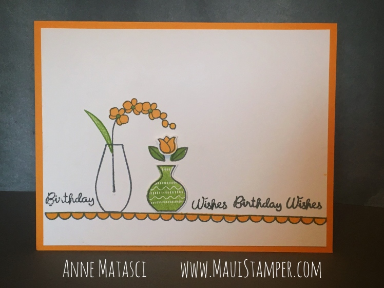 Maui Stamper Stampin' Up! Varied Vases Mango Medley