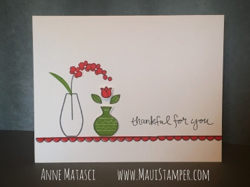 Maui Stamper Stampin' Up! Varied Vases Poppy Parade