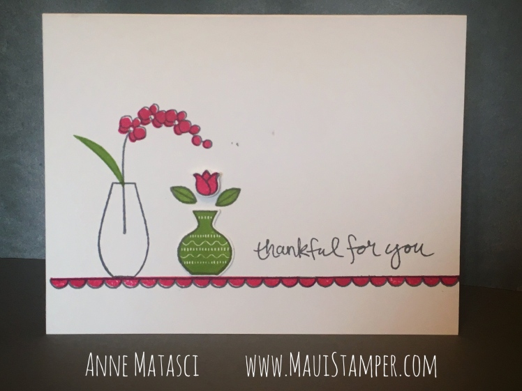 Maui Stamper Stampin' Up! Varied Vases Melon Mambo
