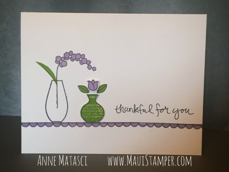 Maui Stamper Stampin' Up! Varied Vases Highland Heather