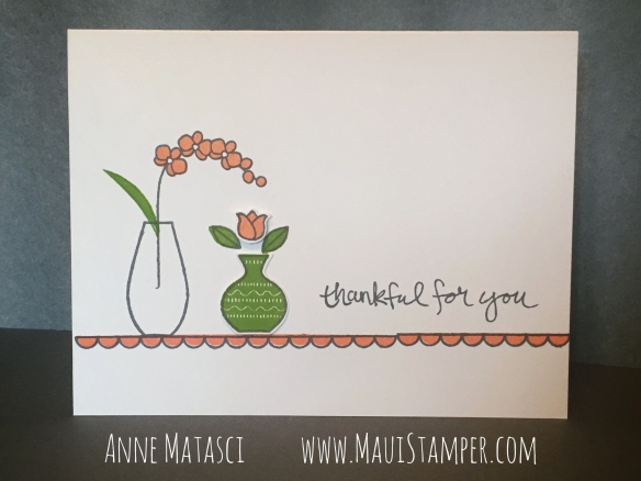 Maui Stamper Stampin' Up! Varied Vases Grapefruit Grove