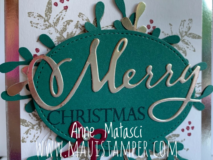 Maui Stamper Stampin' Up! Merry Christmas Thinlits