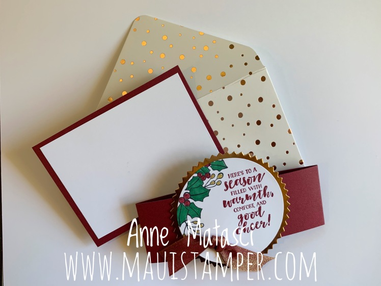 Maui Stamper Stampin' Up! First Frost Deluxe Gift Card Holder
