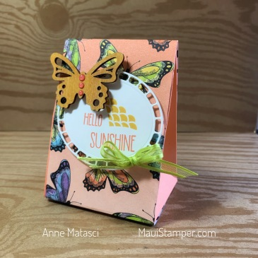 Maui Stamper Stampin' Up! Gift Bag Tent Box Botanical Butterfly DSP SAB 2019
