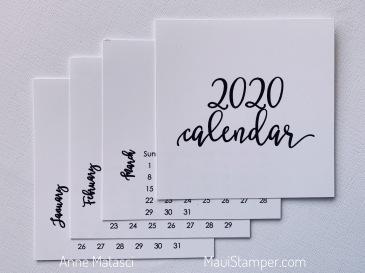 Maui Stamper 2020 DIY Calendar