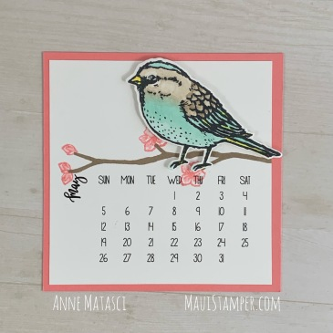Maui Stamper Stampin' Up! May 2019 DIY Easel Calendar Best Birds