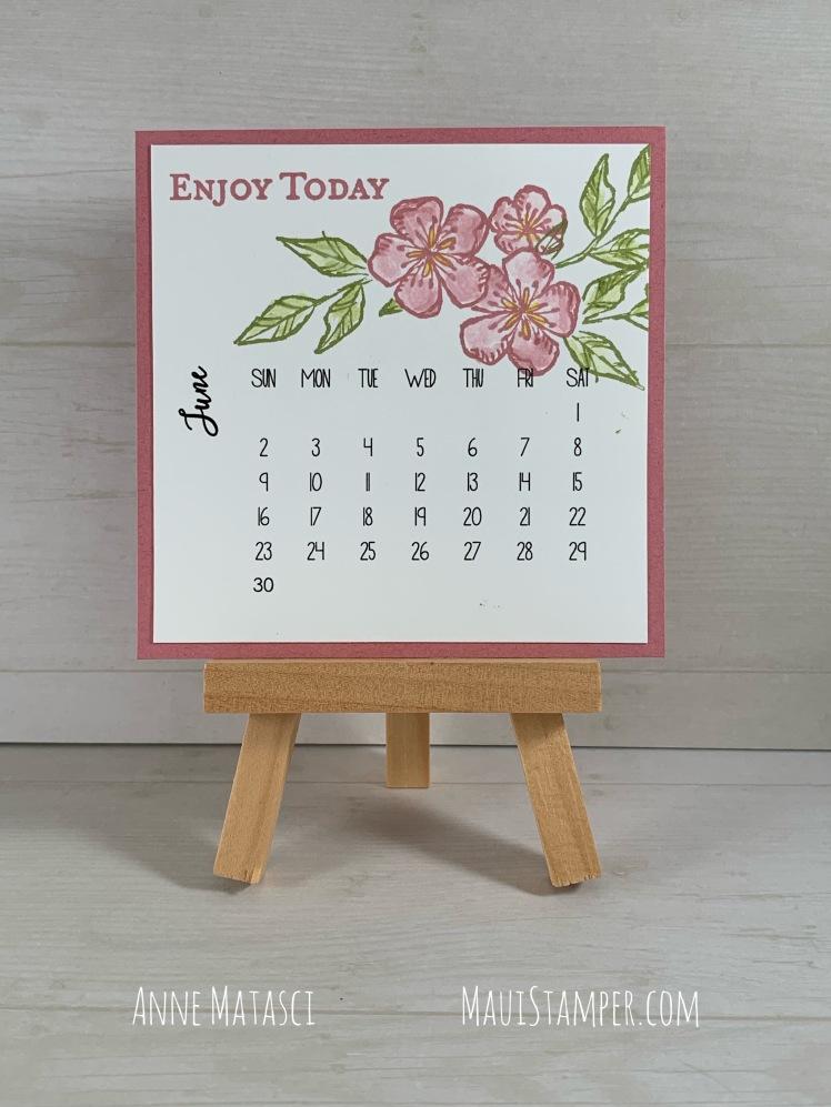 Maui Stamper Stampin' Up! June 2019 DIY Calendar Free as a Bird