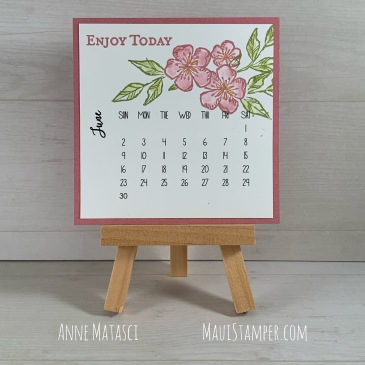 Maui Stamper Stampin' Up! June 2019 DIY Calendar Free as a Bird