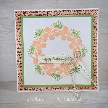 Maui Stamper Stampin Up Tropical Chic Wreath card with Stamparatus
