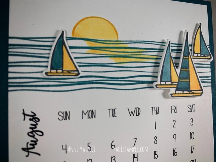 Maui Stamper Stampin Up DIY Easel Calendar Lilypad Lake July 2019