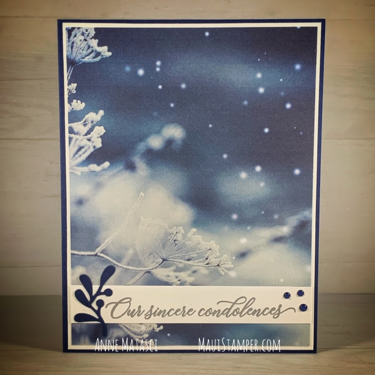 Maui Stamper Stampin' Up! Feels Like Frost Condolences