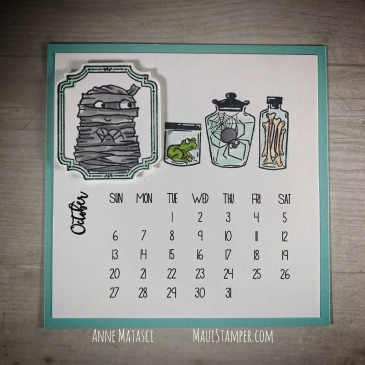 Maui Stamper Stampin Up October 2019 DIY Easel Calendar Spooktacular Bash